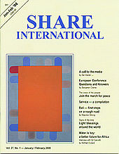 Share International Cover, featuring one of Benjamin Creme's artworks