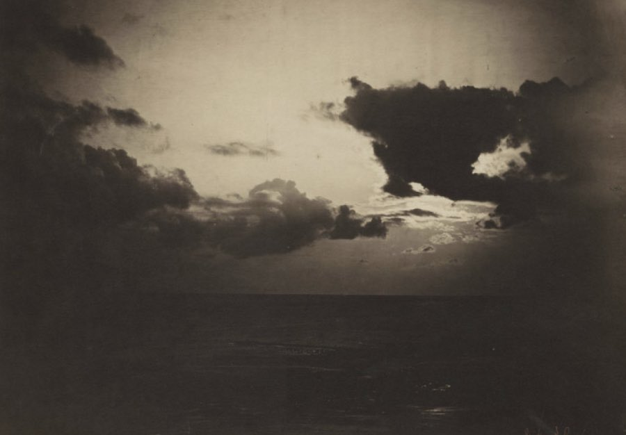 Gustave Le Gray (French, 1820-1884) Cloud Study, Light-Dark 1856-57